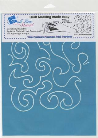 Full Line Stencil Sherry's Meander Background
