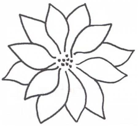 Full Line Stencil Poinsettia