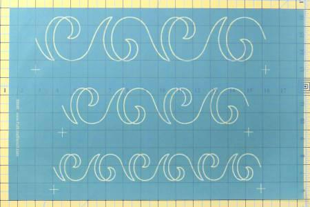 Stencil Swirl Sashing Border