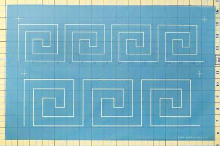 N- Full Line Stencil Greek Key Borders