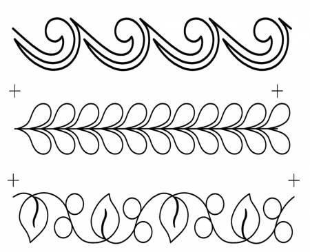 Full Line Stencil Border Assortment 3X
