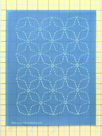 Stencil Sashiko Stitch Angled 7 Treasures