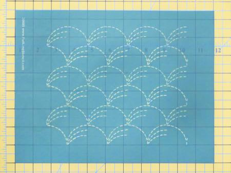 Stencil Sashiko Stitch Grass