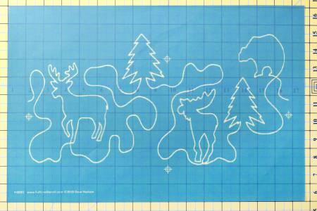 Full Line Stencil Deer in the Woods