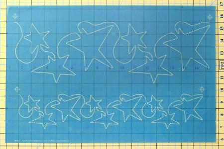 N- Full Line Stencil Seeing Stars Borders