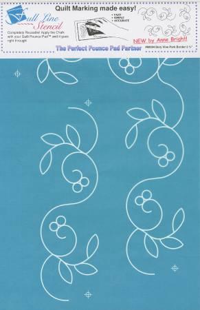 Full Line Stencil Berry Vine Park Border 3-3/4in