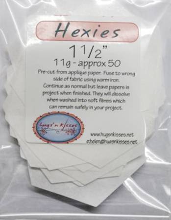 Pre Cut Iron On Hexies 1-1/2 inch 50 Count