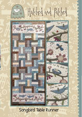 Song Bird Tablerunner Pattern by Hatched and Patched