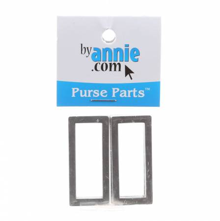 1.5 Rectangle Rings/Nickel (4 ct) (ByAnnie)