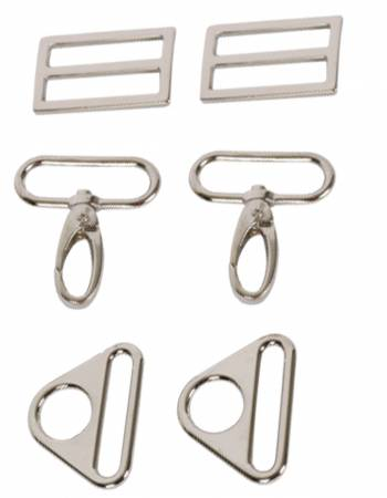 1.5 inch By Annie Bag Set - Nickel