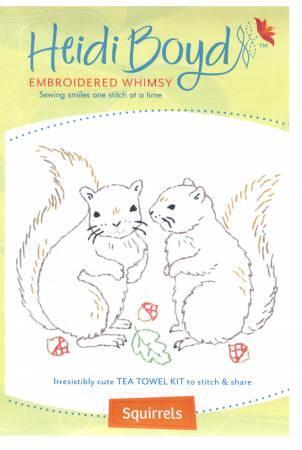 Heidi Boyd Tea Towel Kit Squirrels