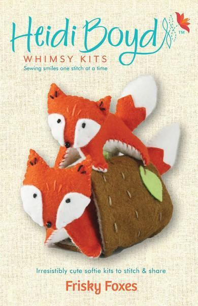 Felt Whimsy Kit Frisky Foxes