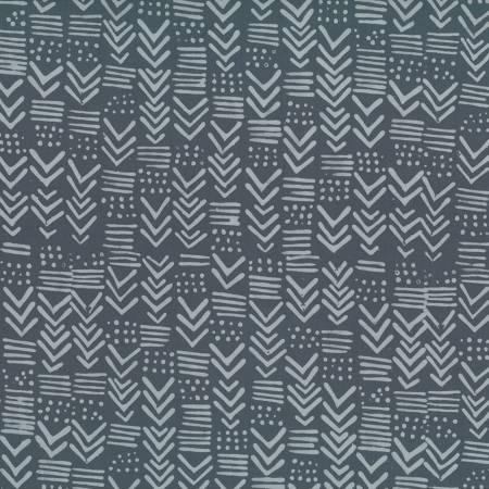 Hoffman Challenge - Indah Hand-dyed Batik Pewter