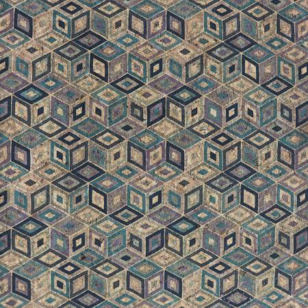 Cool Cubes 1/2 Yard Cork