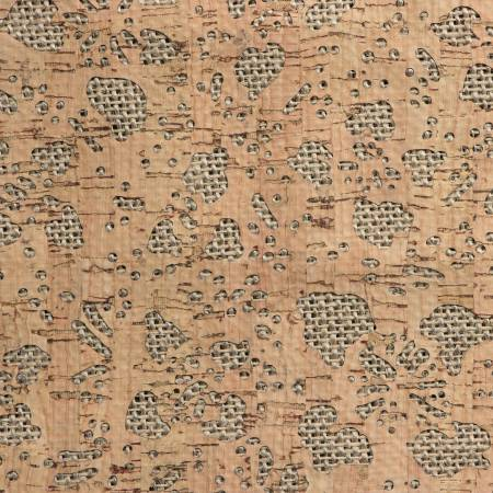 Pro Lite Silver Burlap Backed Floral 1/2 yard
