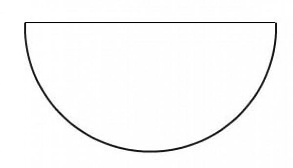 2in Half Circle Papers (50 pieces per bag)
