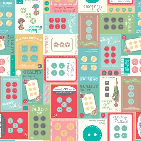 My Happy Place Home Dec Button Cards Multi 57/58