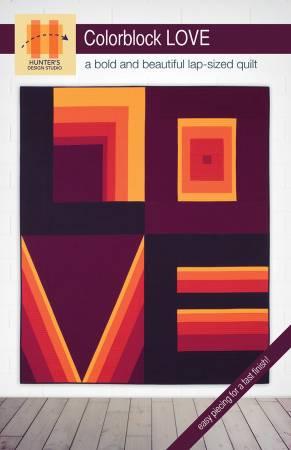 Colorblock Love pattern by Hunter's Design Studio