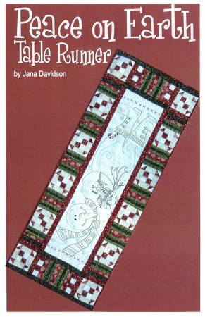 Peace on Earth Table Runner Hand Embroidery