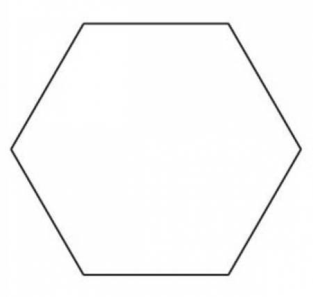 3/4in Hexagon Papers (100 pieces per bag)