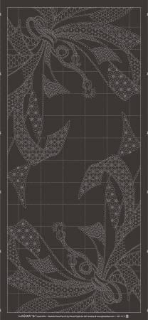 Wagara Sashiko Panel Noshi Charcoalo Grey