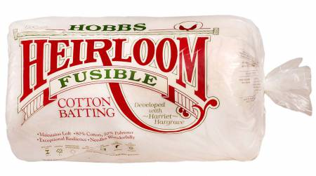 Batting Heirloom Premium Fusible Cotton Blend 90in x 108in 6ct