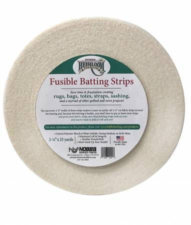 Heirloom Fusible Blended Batting Strips 2-1/4in x 25yds