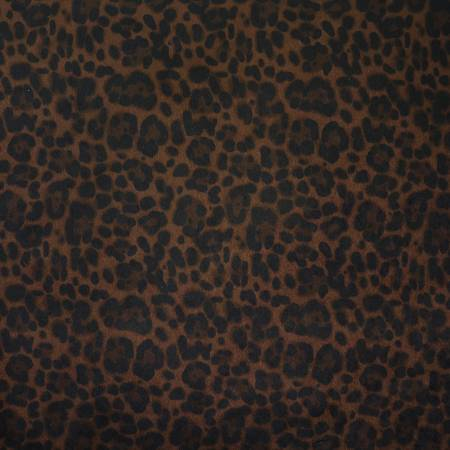 Leopard Black Walnut Faux Fur 1/2 Yard