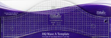 Handi Quilter Wave Ruler A 12in