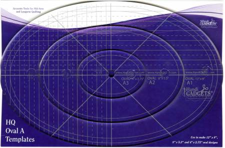 Oval Ruler A 12in 8in & 4in
