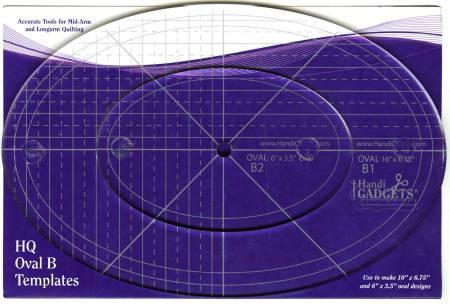 Oval Ruler B 10in & 6in