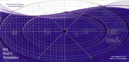 Oval Ruler C 12in & 8in