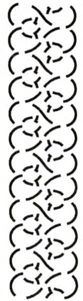 2.5 & 4 Tulip Border Stencil