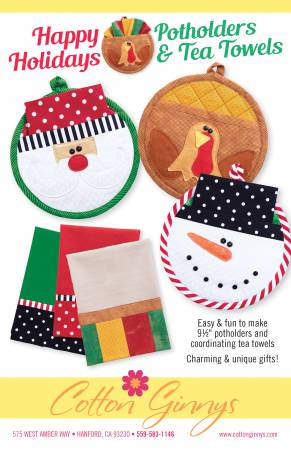 Happy Holidays Potholders & Tea Towels