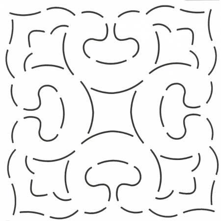 Quilt Stencil Flowers & Curves