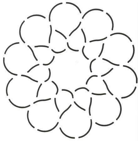 Quilt Stencil Circular Petals