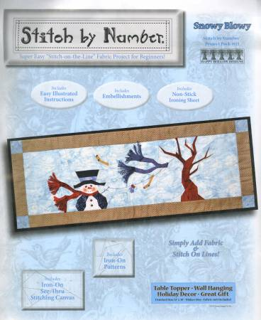 Snowy Blowy Stitch by Number