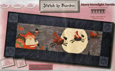 Merry Moonlight Joyride Stitch by number