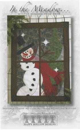 In The Meadow Winter Window Pane w/ embellishments