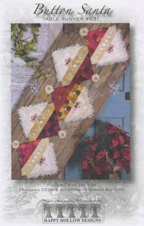 Button Santa Table Runner Pattern #631