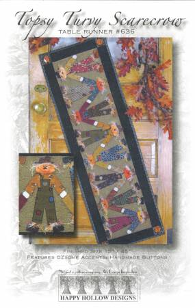 Topsy Turvey Scarecrow Table Runner