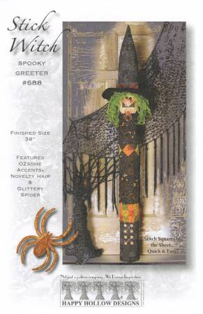Stick Witch Spooky Greeter Pattern Pak Plus