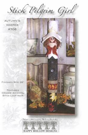 Stick Pilgrim Girl Autumn's Keeper Pattern Plus