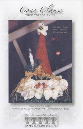 Cone Claus Tree Topper Pattern