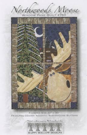 Northwoods Moose Window Pane Pattern