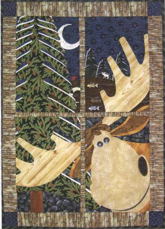 Northwoods Moose Window Pane Quilt Pattern Pack Plus by Happy Hollow Designs