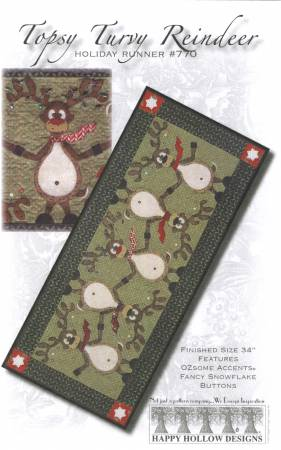 Topsy Turvey Reindeer Holiday Runner