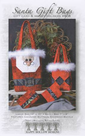 Santa Gift Bags & Magnetic Money/Gift Card Holders Pattern