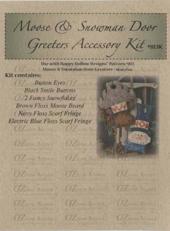 Moose & Snowman Door Knob Greeter Accessory Kit