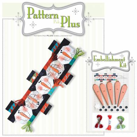 Button Snowman Runner Pattern Pak Plus